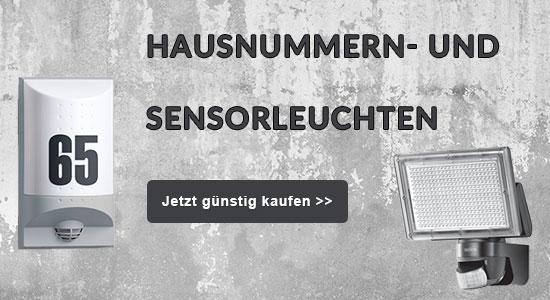 Hausnummern- und Sensorleuchten